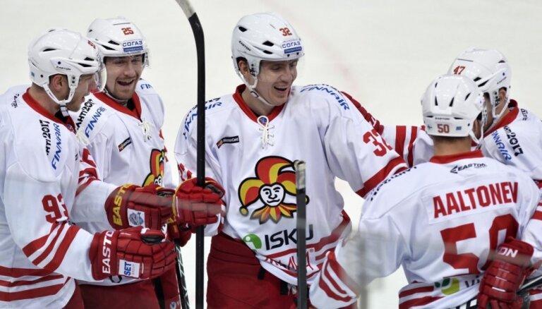 Kulda ar rezultatīvu piespēli palīdz 'Jokerit' uzvarēt; Daugaviņš un Skudra pārspēj SKA