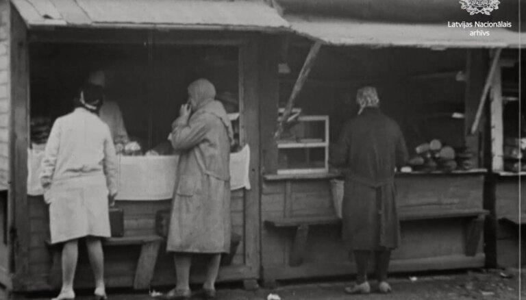 Dokumentālā filma 'Rīgas tirgus', 1930. gads