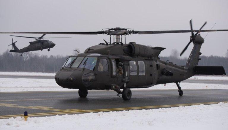 ASV Latvijā izvieto vairāk 'Black Hawk' helikopteru un karavīru