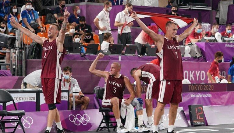 Latvijas 3x3 basketbolisti kļūst par vēsturiski pirmajiem olimpiskajiem čempioniem