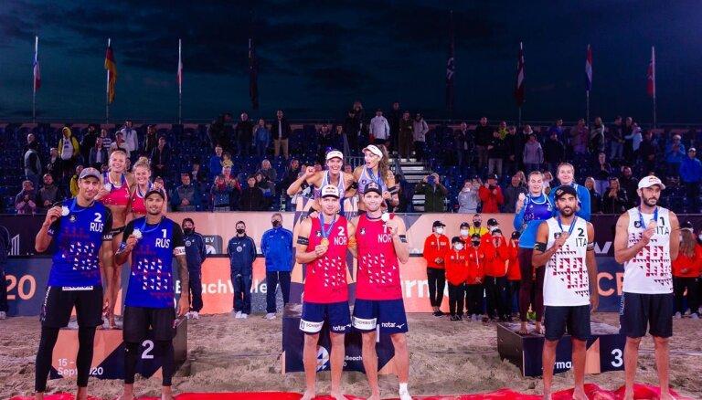 Mūls/Sērums triumfē Jūrmalā un trešo gadu pēc kārtas tiek kronēti par Eiropas čempioniem