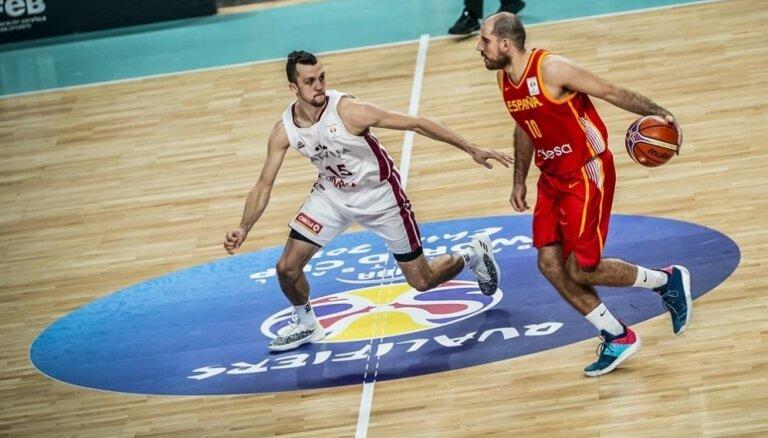 PK kvalifikācija basketbolā: Latvija – Spānija. Teksta tiešraide