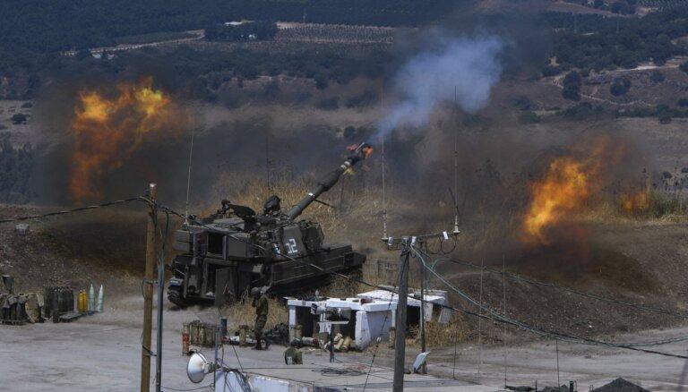 Izraēla ar artilēriju apšauda Libānu, atbildot uz raķešu šaušanu