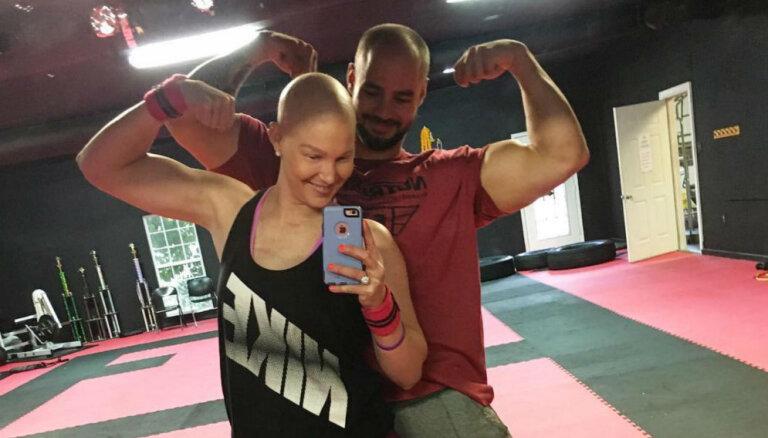 Ķīmijterapija un fitness: sīksta vēža slimniece, kura nevēlas padoties