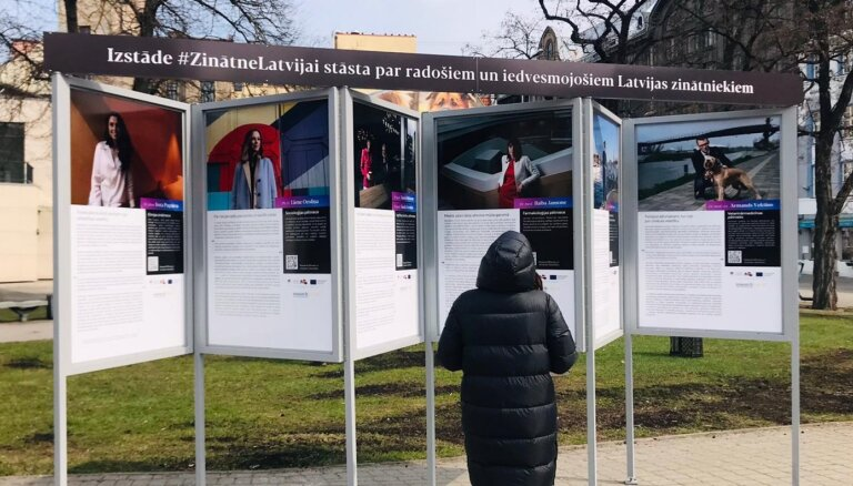 Līvu laukumā apskatāma izstāde par 14 iedvesmojošiem Latvijas zinātniekiem