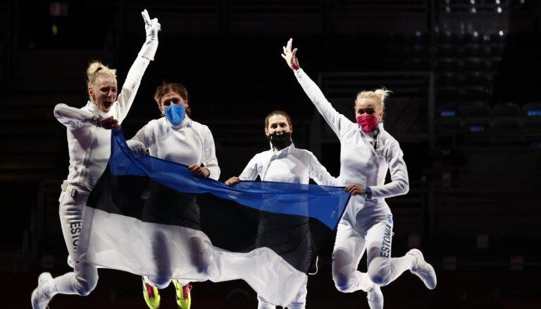 Igaunijas paukotājas aizraujošā finālā kļūst par olimpiskajām čempionēm