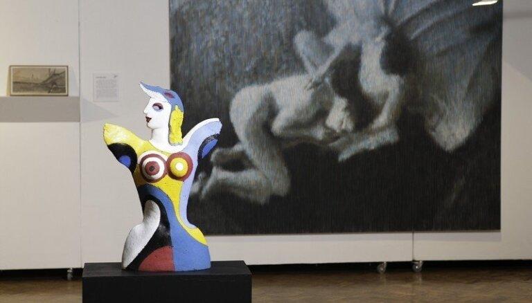 Foto: Jaunie un vecie 'Mākslas akadēmijas balvas 2014' izstādē