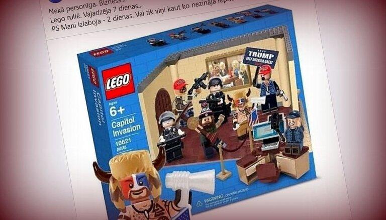Vajadzēja nedēļu: viltus ziņa par 'Lego' Kapitolija versiju sasniedz Latviju
