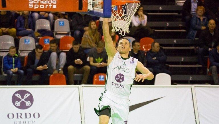 'Valmiera/ORDO' basketbolisti izbraukumā sakauj 'Latvijas Universitāti'