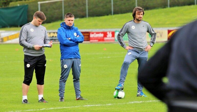 Latvijas futbola izlases sākumsastāvā spēlē pret Gruziju būs izmaiņas, saka treneris