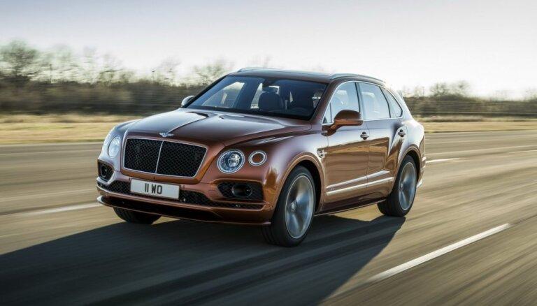 'Bentley Bentayga' jaunā 'Speed' versija ātrumā pārspēj 'Lamborghini Urus'
