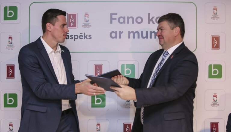 2021. gada pasaules hokeja čempionāts iegūst pirmo atbalstītāju