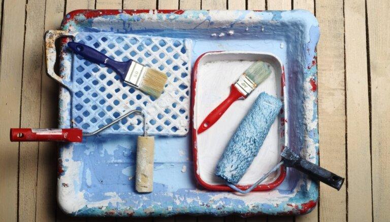 Kā pēc krāsošanas nomazgāt un uzglabāt otas un rullīšus