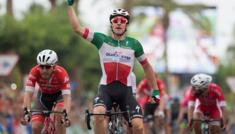 'Vuelta a Espana' trešajā posmā uzvar itālis Viviāni