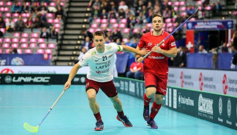Florbolists Raitums: spēlei pret Šveici bijām labi sagatavojušies