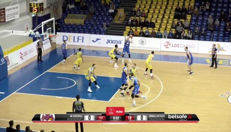 'OlyBet' basketbola līga: 'Ventspils' - 'Betsafe/Jūrmala'. Pilns ieraksts