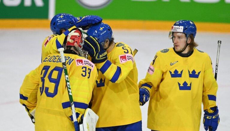 Zviedrija atspēlējas un turpina 'grauzt' ceļu uz ceturtdaļfinālu