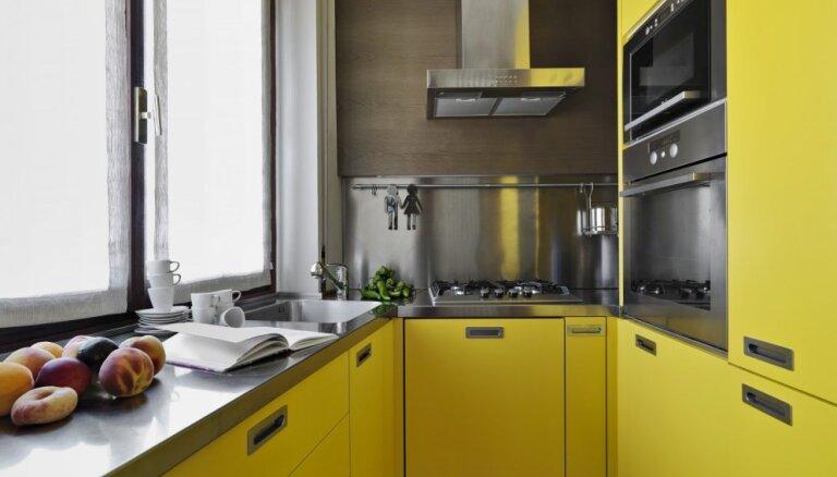 Dzīvo koši! Drosmīgi piemēri virtuvēm visās varavīksnes krāsās