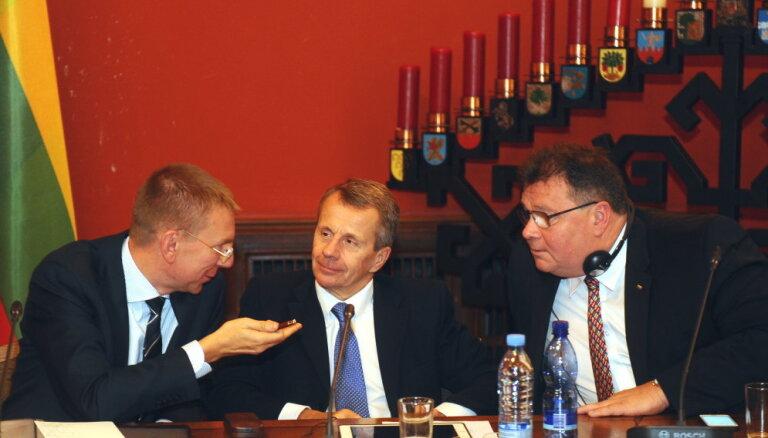 Министры: страны Балтии едины в вопросах внешней политики и безопасности, разногласия— по экономике