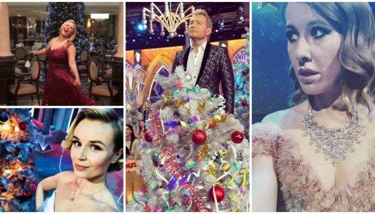 Šiks un glamūrs: Krievijas šovbiznesa zvaigžņu pirmssvētku laiks