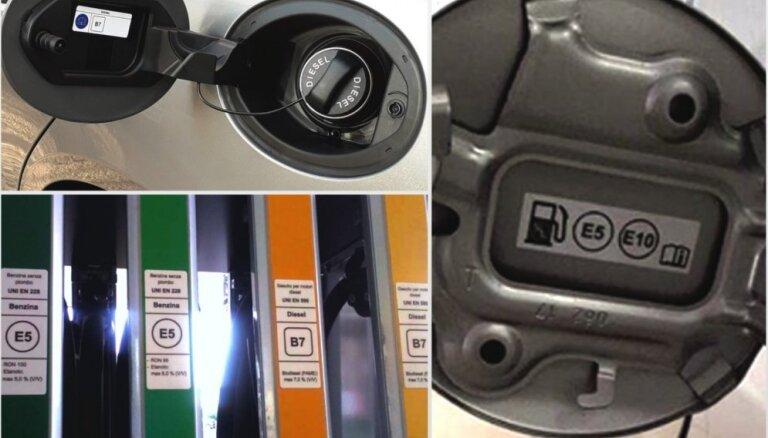На заправочных пистолетах латвийских АЗС появится новая маркировка, предусмотренная директивой ЕС