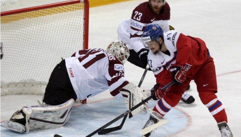 Сегодня на чемпионате мира в Москве сборная Латвии играет с Чехией