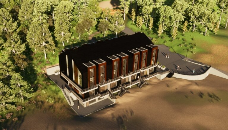 ФОТО: В Саулкрасты рядом с пляжем построят новую гостиницу