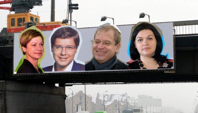 Sākas priekšvēlēšanu periods; pirms tā aktīvi reklamējušies trīs politiskie spēki