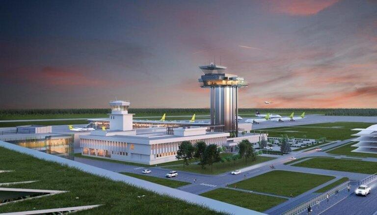ФОТО: Как может выглядеть новая диспетчерская вышка в Рижском аэропорту