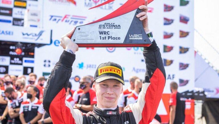 Latvijas eksčempions Rovanpere kļūst par visu laiku jaunāko WRC posma uzvarētāju