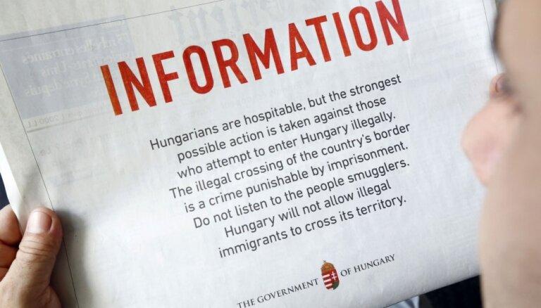 Ungārija reklāmā Libānas laikrakstā brīdina potenciālos nelegālos migrantus