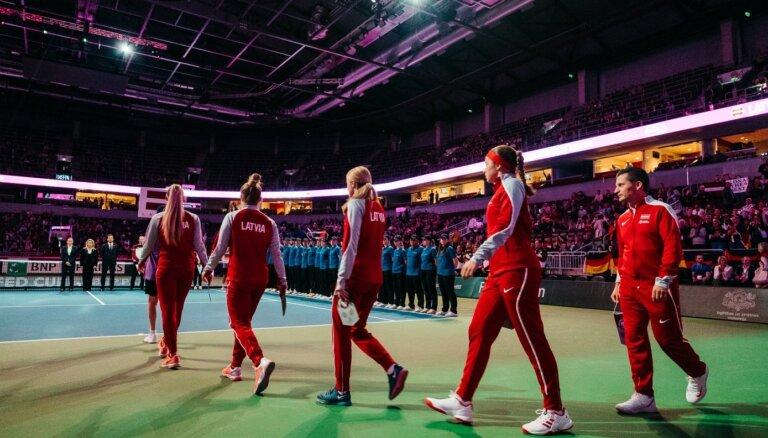 Latvijas tenisistes uzzinājušas spēļu secību Kingas kausā duelī pret Indiju