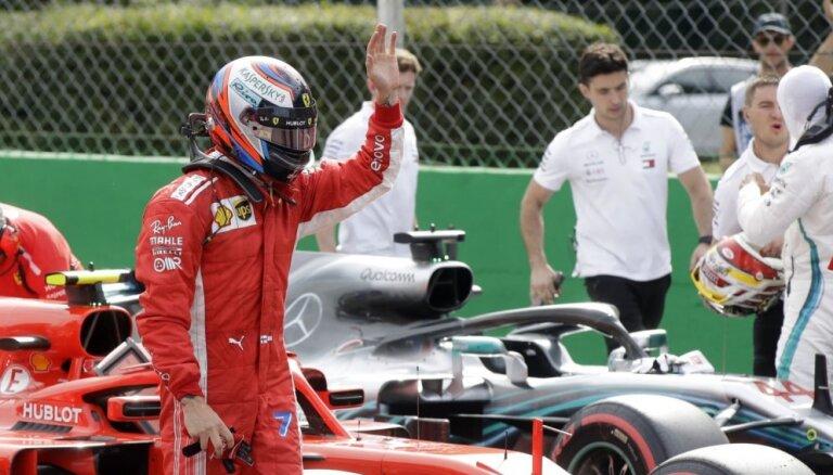 Raikonens pārliecinoši ātrākais F-1 Itālijas 'Grand Prix' kvalifikācijā