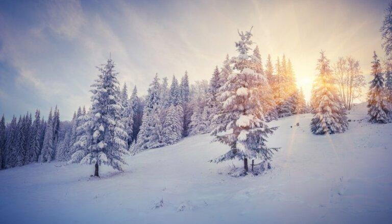 Синоптики: в пятницу выглянет солнце, в Латгалии ожидаются снегопады