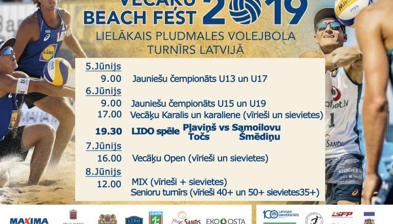 20 laukumi - Vecāķi uzņems līdz šim nebijušu pludmales volejbola festivālu