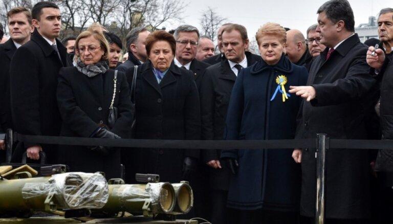 Kijevā ar plašu demonstrāciju piemin nogalinātos Maidana aktīvistus