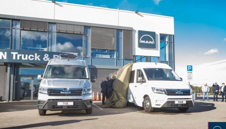 Foto: Latvijā prezentēts jaunais 'MAN TGE' mikroautobuss