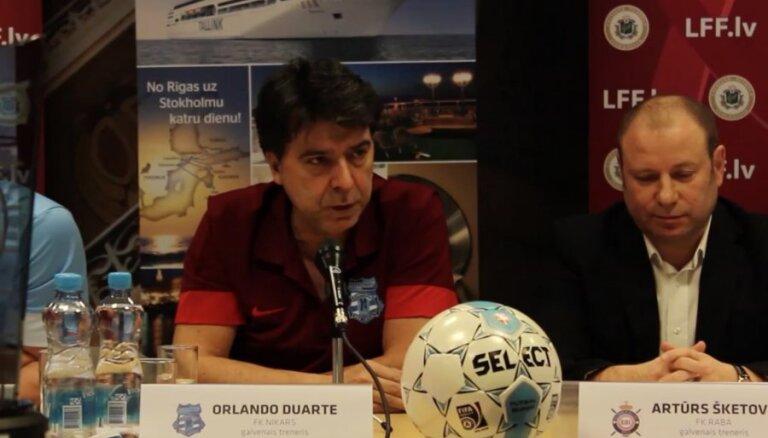 Latvijas telpu futbola čempionāta finālsērijas preses konference
