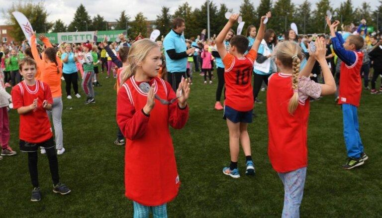 145 000 dalībnieku 650 vietās - Latvijā notiek 'Olimpiskā diena 2018'