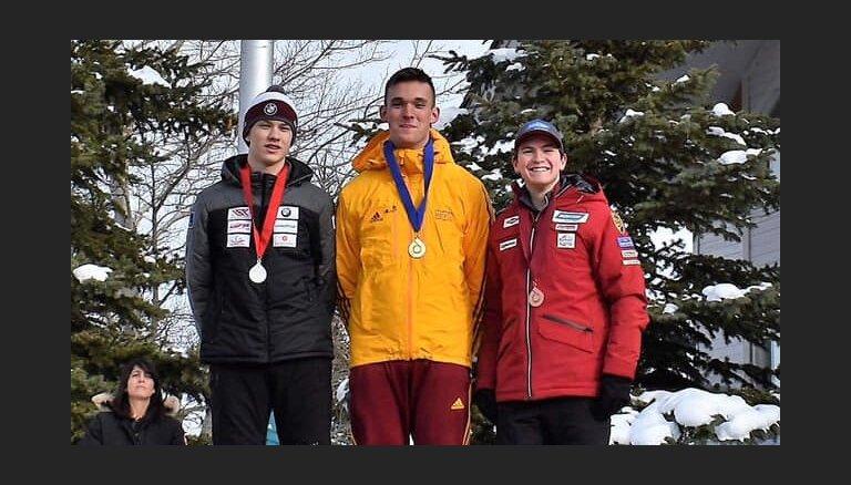 Gints Bērziņš izcīna otro vietu junioru PK pirmajā posmā ASV kamaniņu sportā