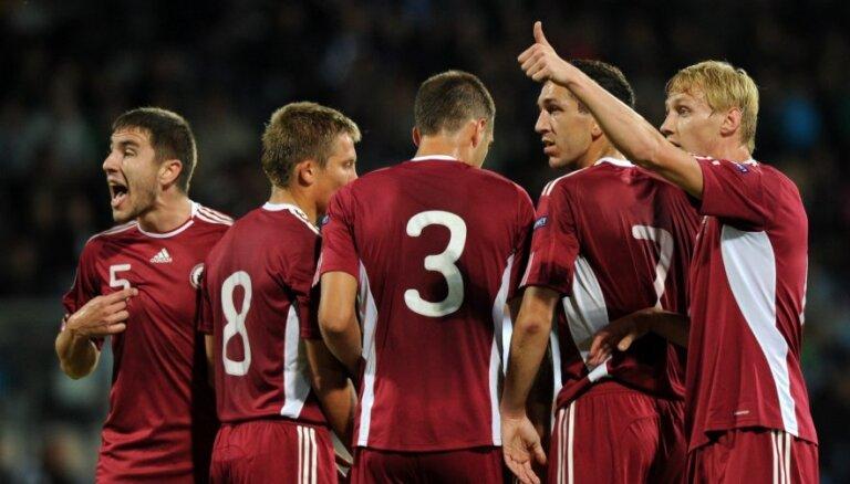 Latvijas futbola izlasei lielākais kāpums FIFA rangā kopš 2009.gada aprīļa
