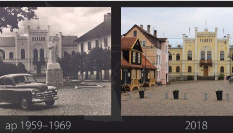 Kuldīga senāk un tagad: kā pilsēta izmainījusies gadu gaitā