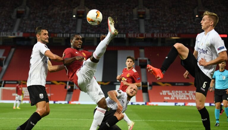 'Manchester United' iekļūst UEFA Eiropas līgas ceturtdaļfinālā