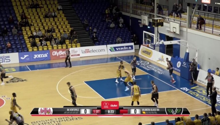 'OlyBet' basketbola līga: 'Ventspils' - 'Valmiera glass/ViA'. Labākie momenti (17.11.2018.)