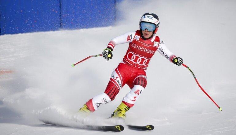 Austriešu kalnu slēpotāja Šmidhofere izcīna otro uzvaru PK ietvaros pēc kārtas