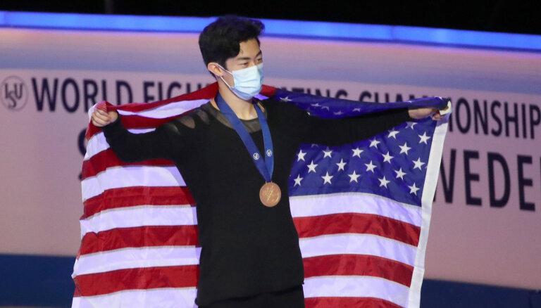 Чен выиграл чемпионат мира в Стокгольме, лучший фигурист Латвии Денис Васильев наошибался