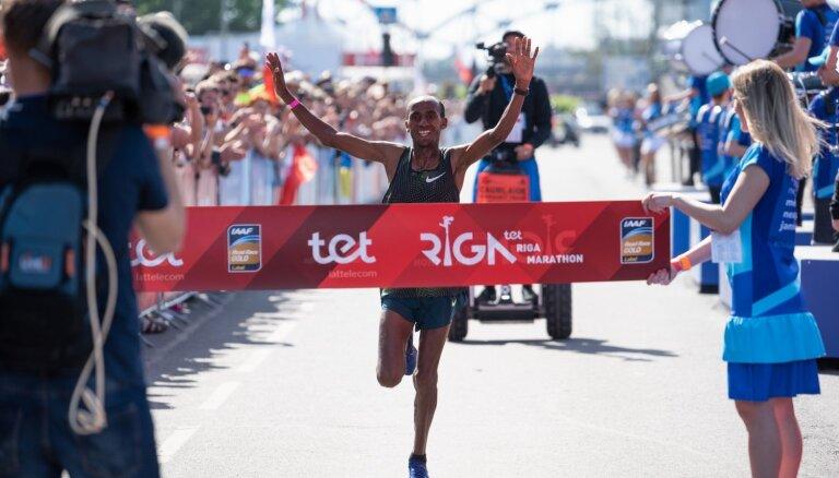 Рижский марафон выиграли представители Эфиопии, Прокопчук не добежала до финиша