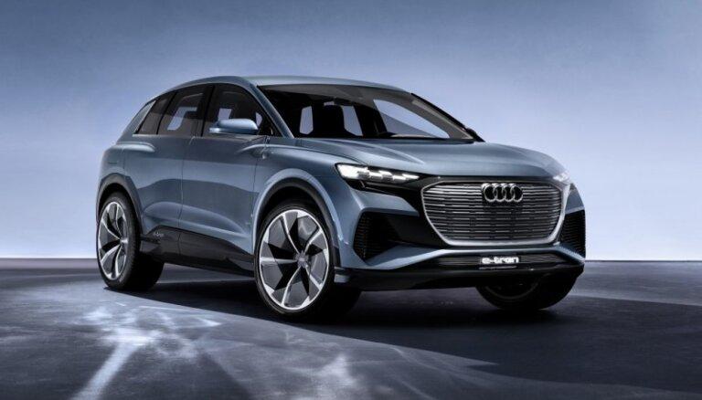 'Audi' piektais ražošanā plānotais elektromobilis 'Q4 e-tron'