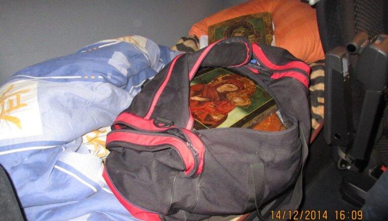 VID pie Baltkrievijas robežas novērš piecu svētbilžu kontrabandu