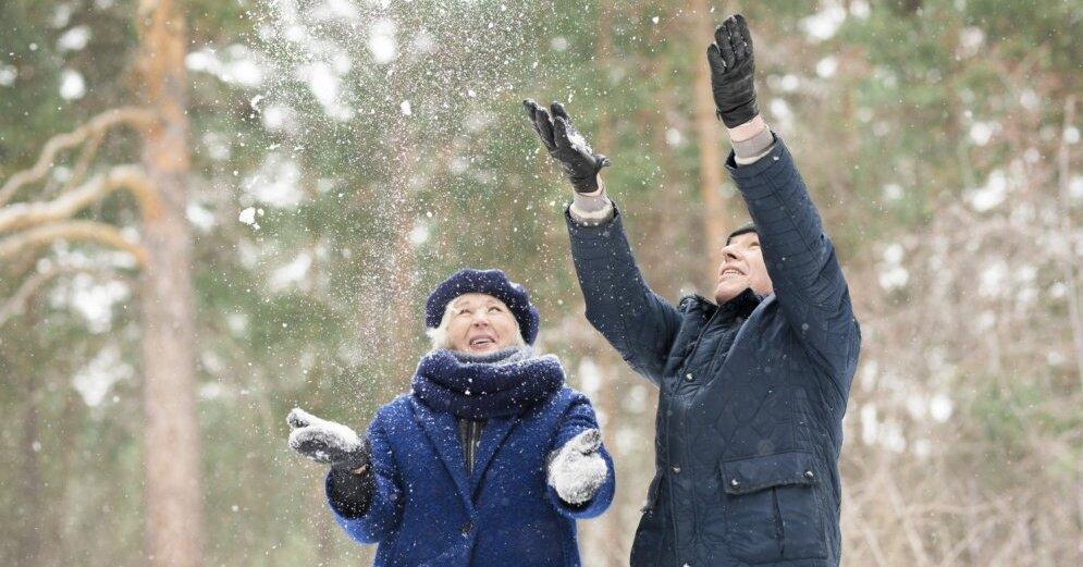 Сильный снегопад накроет завтра Латгалию и Видземе